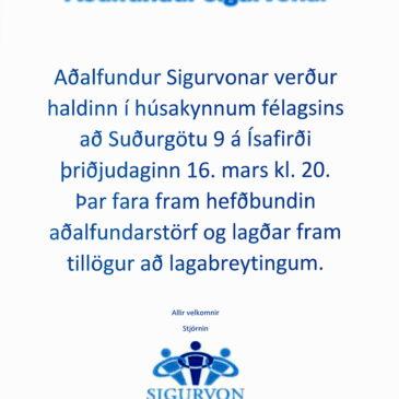 Aðalfundur Sigurvonar